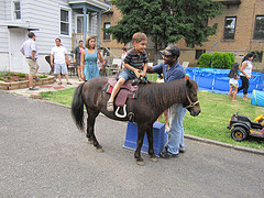 Helping Kid to Ride Pony